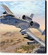 A-10 Over Baghdad Canvas Print by Stu Shepherd