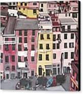 A Bird's Eye View Of Cinque Terre Canvas Print