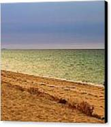 A Book On The Beach Canvas Print by Robert Bascelli