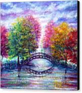 A Bridge To Cross Canvas Print by Ann Marie Bone