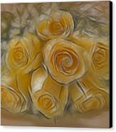 A Bunch Of Yellow Roses Canvas Print by Susan Candelario