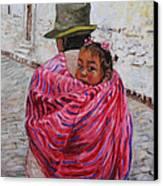 A Bundle Buggy Swaddle - Peru Impression IIi Canvas Print by Xueling Zou