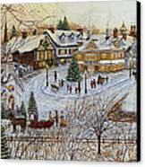 A Christmas Village Canvas Print by Doug Kreuger