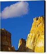 A Cloud Over Orange Rock Canvas Print
