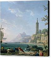 A Coastal Mediterranean Landscape Canvas Print