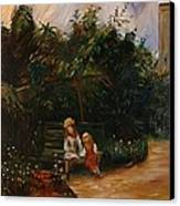 A Corner Of The Garden At The Hermitage Canvas Print