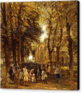 A Country Wedding Canvas Print by Charles Thomas Burt