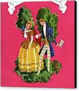 A Couple In Period Costume Canvas Print