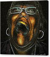 A Dark Laugh Canvas Print by Pedro L Gili