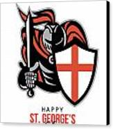A Day For England Happy St George Greeting Card Canvas Print by Aloysius Patrimonio