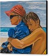A Day On The Beach Canvas Print