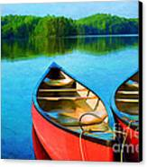 A Day On The Lake Canvas Print