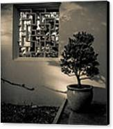 A Detail At The Lan Su Chinese Garden Canvas Print