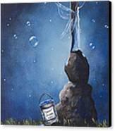 A Fairy's Nighttime Gift By Shawna Erback Canvas Print by Shawna Erback