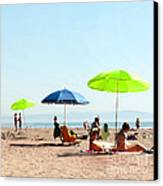 A Fine Day At The Beach Canvas Print by Artist and Photographer Laura Wrede