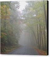 A Foggy Drive Canvas Print