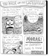 A Four-panel Cartoon Detailing The Trauma Canvas Print by Roz Chast