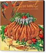 A Gourmet Cover Of Chicken Canvas Print by Henry Stahlhut