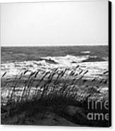 A Gray November Day At The Beach Canvas Print by Susanne Van Hulst