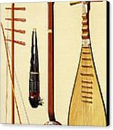 A Huqin And Bow, A Sheng, A Sanxian Canvas Print by Alfred James Hipkins