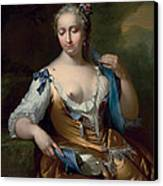 A Lady In A Landscape With A Fly On Her Shoulder Canvas Print