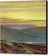A Lake Landscape At Sunset Canvas Print