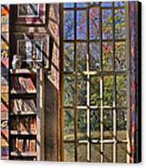 A Look From The Library Canvas Print by Susan Candelario