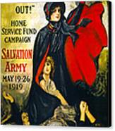 A Man May Be Down . . .   1919 Canvas Print by Daniel Hagerman