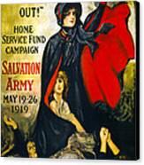 A Man May Be Down . . .   1919 Canvas Print by Daniel Hagerman