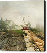 A Morning In Maine Canvas Print by Darren Fisher