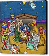 A Nativity Scene Canvas Print by Sarah Batalka