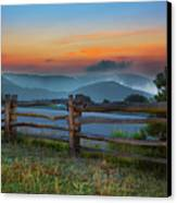A New Beginning - Blue Ridge Parkway Sunrise I Canvas Print by Dan Carmichael