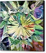 A New Sun Flower Canvas Print by Mindy Newman
