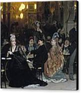 A Parisian Cafe Canvas Print by Ilya Efimovich Repin