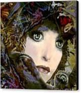 A Portrait Of A Friend Canvas Print by Doris Wood