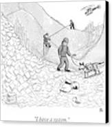 A Rescue Team Locates A Man Buried Canvas Print by Paul Noth