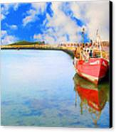 A Resting Boat Howth Ireland Canvas Print by Jo Collins