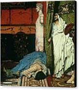 A Roman Emperor   Claudius Canvas Print by Sir Lawrence Alma Tadema