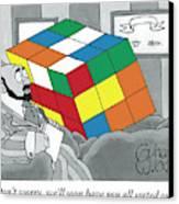 A Rubik's Cube Is Seen In A Psychiatrist's Office Canvas Print by Gahan Wilson