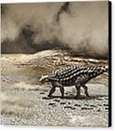 A Saichania Chulsanensis Dinosaur Canvas Print
