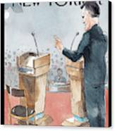 A Scene From The Presidential Debate Canvas Print