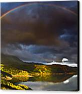 A Scottish Highland Rainbow Kylesku Canvas Print by John Farnan