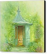 A Seat In The Summerhouse Canvas Print by Garry Walton