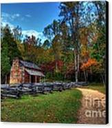 A Smoky Mountain Cabin Canvas Print
