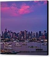 A Spectacular New York City Evening Canvas Print by Susan Candelario