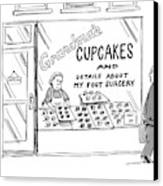 A Storefront Reads: Grandma's Cupcakes Canvas Print