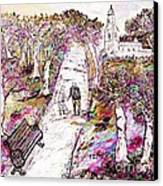 A Stroll In Autumn Canvas Print by Loredana Messina