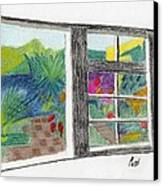 A Summer Garden Canvas Print by Bav Patel