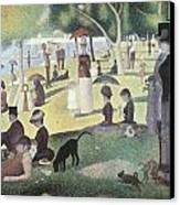 A Sunday Afternoon On The Island Of La Grande Jatte Canvas Print by George-Pierre Seurat