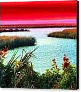 A Sunset Crimsoned Canvas Print